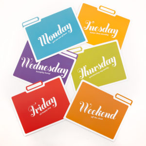 Days of the Week Folders