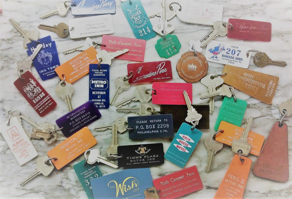 Conversation Piece:  Vintage Hotel Keys