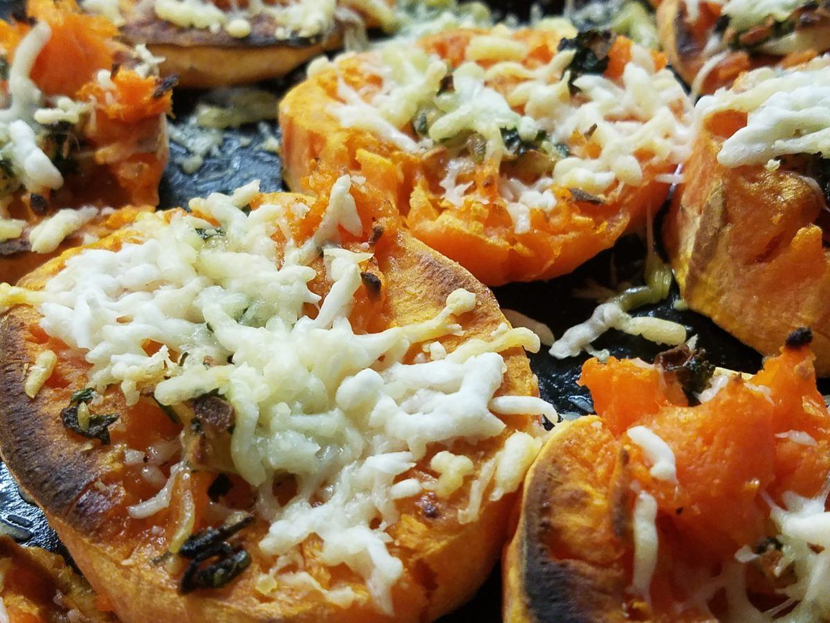 Try it Tuesday:  Crispy Garlic Butter Smashed Sweet Potatoes