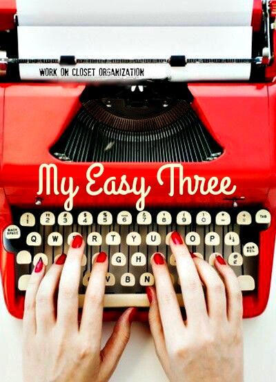 My Easy Three:  Accessory Organization