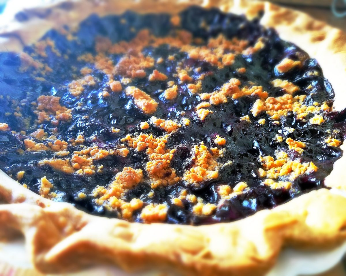 Blueberry Butterscotch Pie