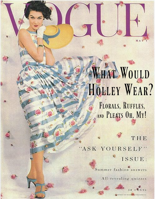 What Would Holley Wear:  Florals, Ruffles and Pleats Oh, My!