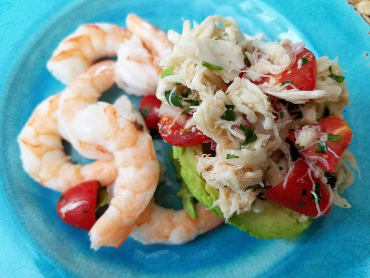 Summer Salad:  Avocado Lump Crab Salad
