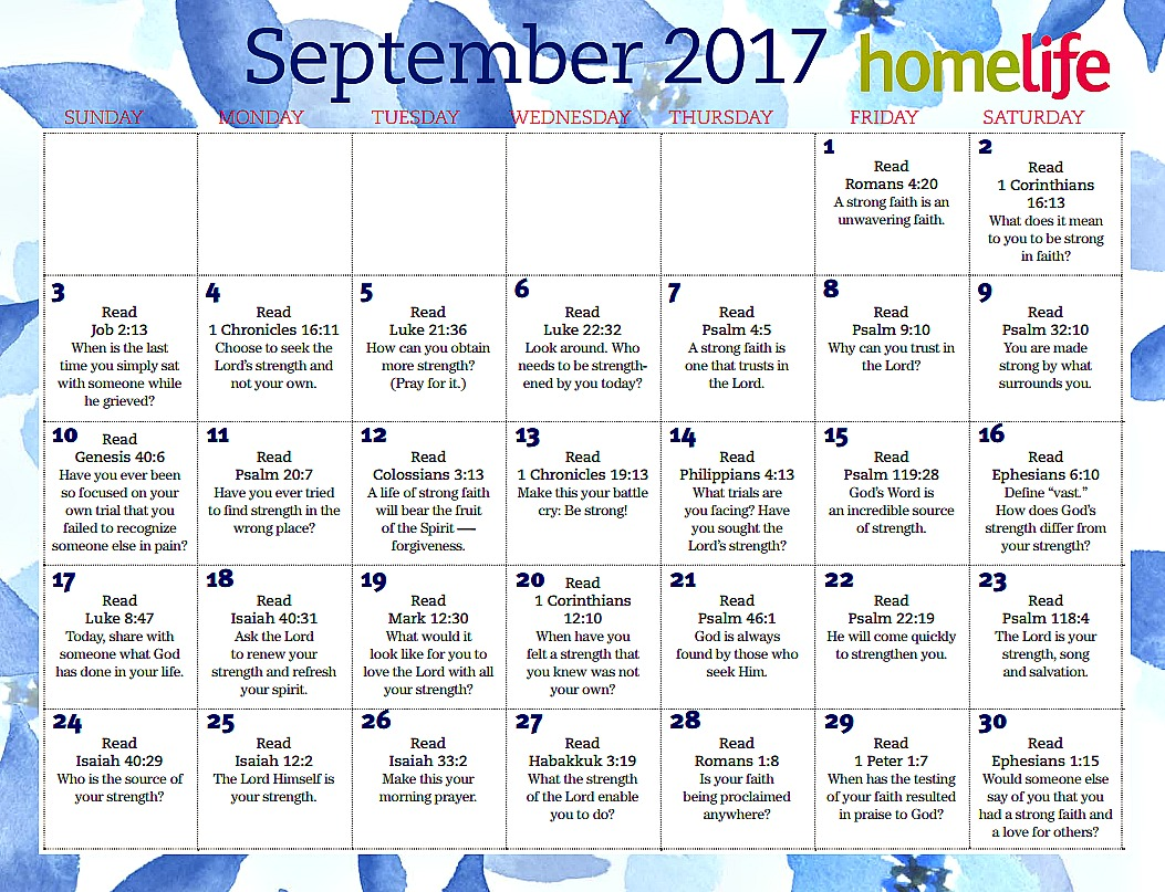 Lifeway September Devotional Calendar