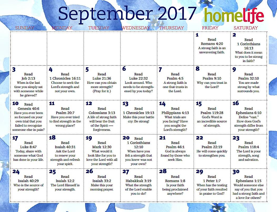 Lifeway September Devotional Calendar
