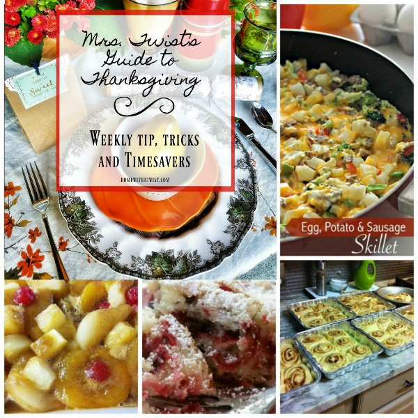 Mrs. Twist's Guide to Thanksgiving:  Breakfast Recipes