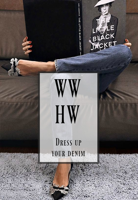 What Would Holley Wear:  Dress Up Your Denim … Winter Edition