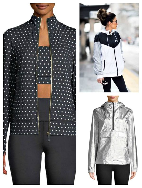229f1c6c46f2 A sporty look I m crushing on from Neiman s fitness wear is a polka-dot Kate  Spade workout jacket. I m starting to wonder if this adorable jacket would  ...