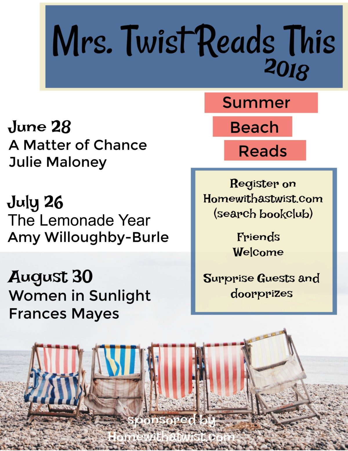 Mrs. Twist Reads This Summer Beach Reads 2018