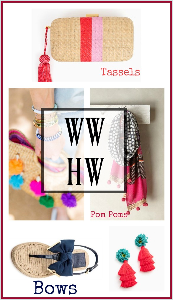 What Would Holley Wear:  Bows, Pom Poms and Tassels