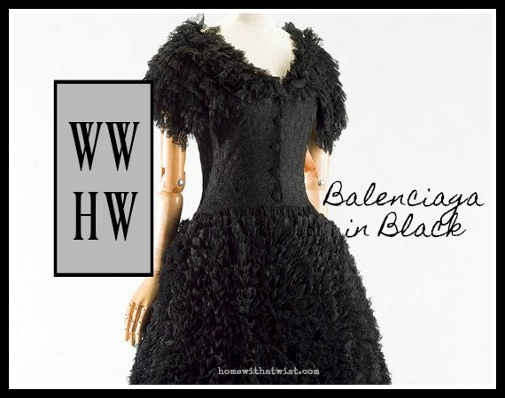 What Would Holley Wear:  Balenciaga in Black