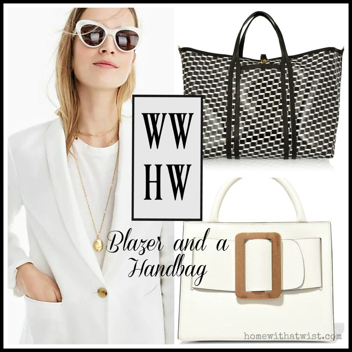 What Would Holley Wear: A Blazer and a Handbag