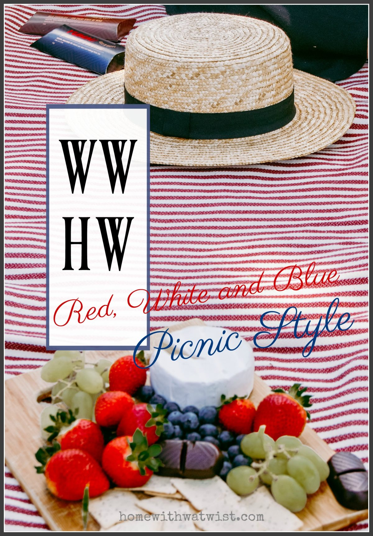 What Would Holley Wear:  Red, White and Blue Picnic Style