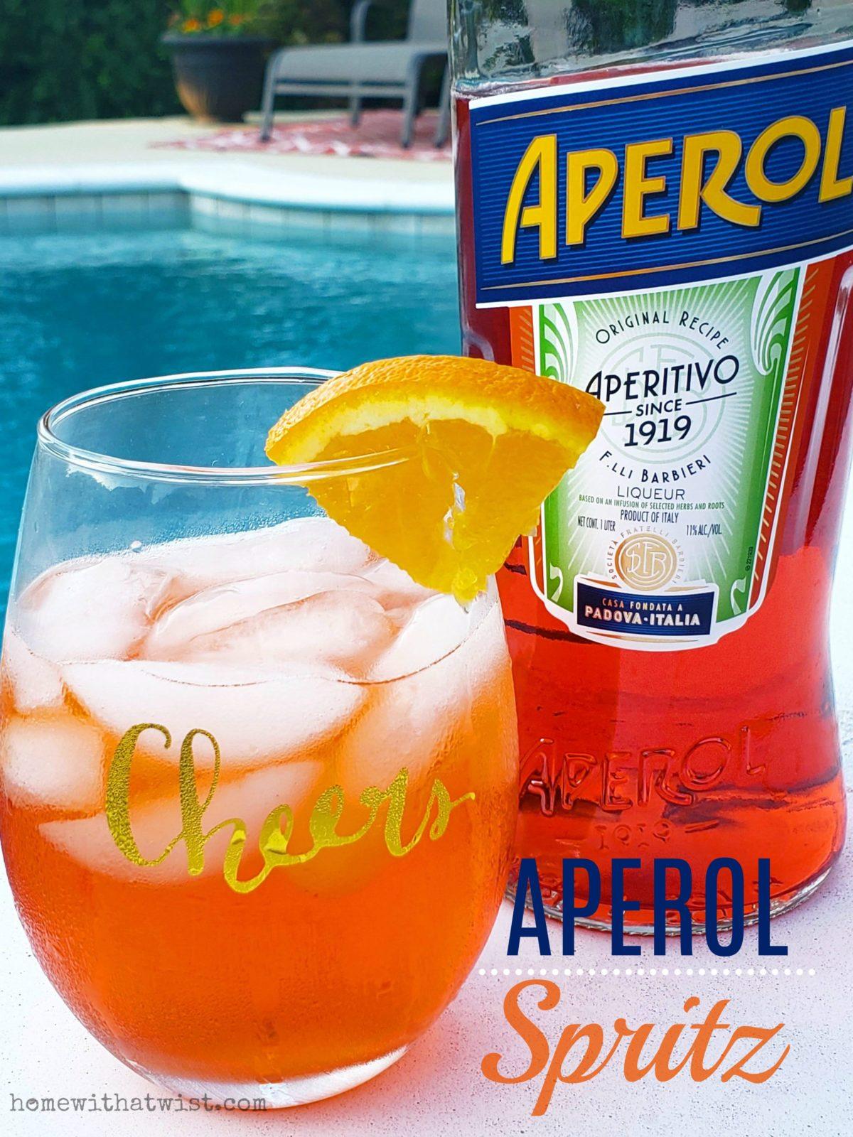 Summery Poolside Sip – An Aperol Spritz