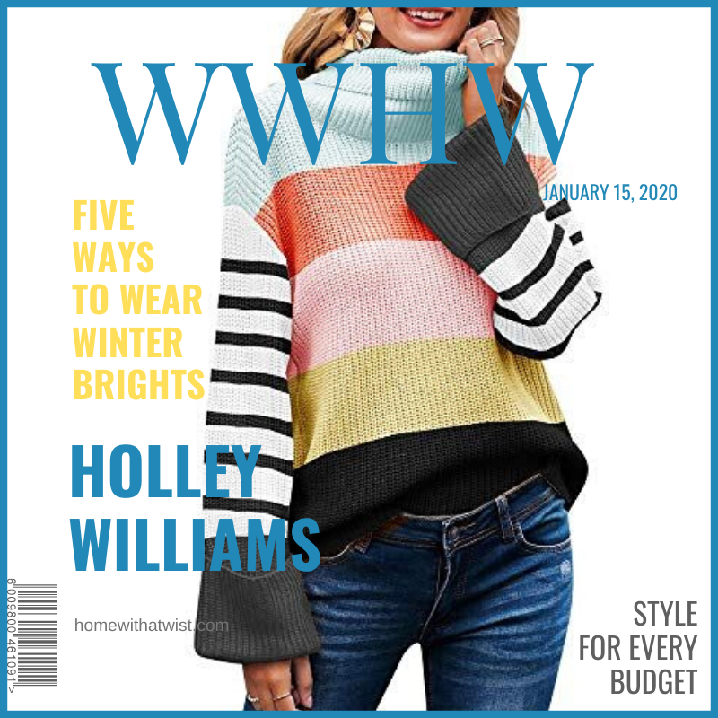 What Would Holley Wear: Five Ways to Wear Winter Brights
