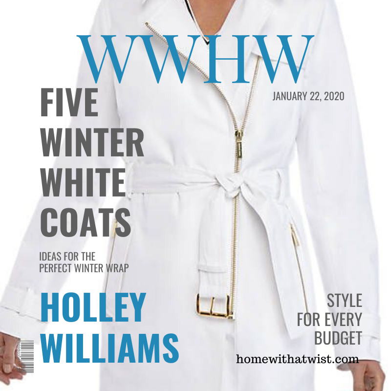 What Would Holley Wear: Five Winter White Coats