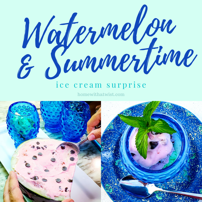 A Fun Way to Serve Ice Cream – in a Watermelon