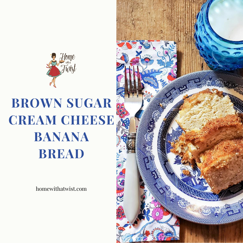 Brown Sugar Cream Cheese Banana Bread