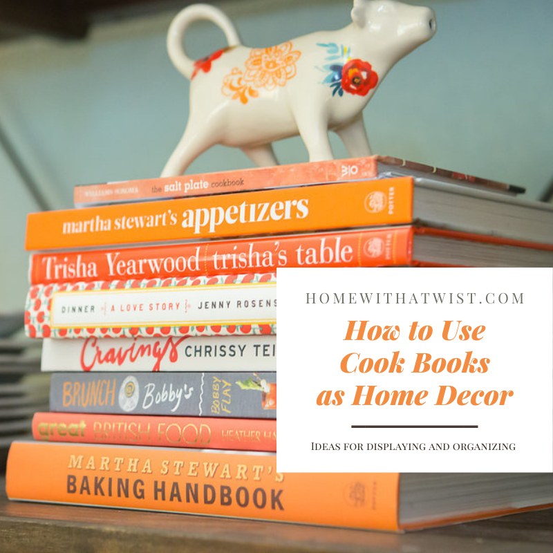 How to Use Cook Books as Home Decor