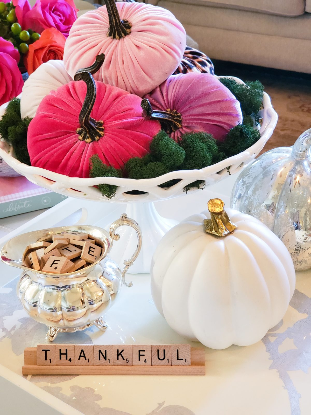 Easy Fall Decor Coffee Table Styling